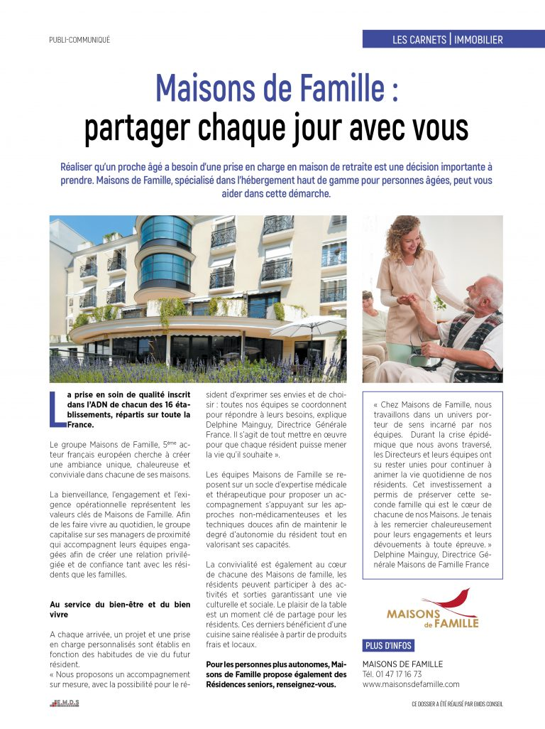 Page immobilier